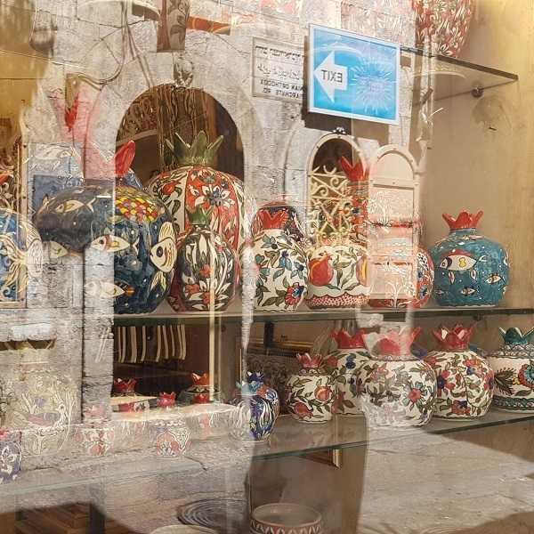 Granadas de cerámica en Jerusalem